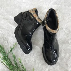 Lugz Patent Leather Waterproof Rain Ankle Boots